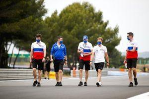 Mick Schumacher, Haas F1 a piedi sul circuito