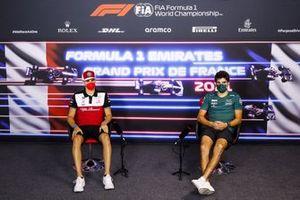 Antonio Giovinazzi, Alfa Romeo Racing, Lance Stroll, Aston Martin en la conferencia de prensa