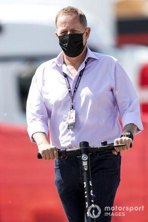 Martin Brundle, Sky TV on a scooter