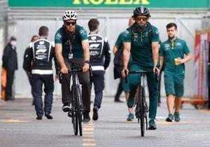 Sebastian Vettel, Aston Martin arriving at Monaco