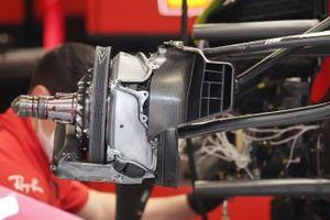 Ferrari SF21 front brake disc detail