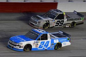 #24: Ryan Reed, GMS Racing, Chevrolet Silverado Tandem Diabetes Care, #99: Ben Rhodes, ThorSport Racing, Toyota Tundra Bombardier