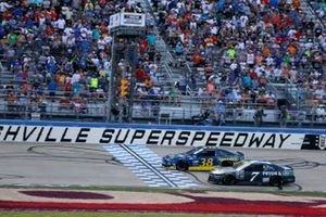 Corey LaJoie, Spire Motorsports, Chevrolet Camaro Pryor & Lee, Anthony Alfredo, Front Row Motorsports, Ford Mustang Speedco