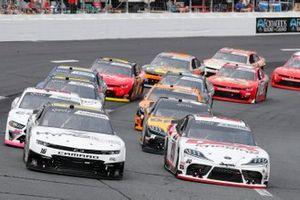 Harrison Burton, Joe Gibbs Racing, Toyota Supra DEX Imaging, A.J. Allmendinger, Kaulig Racing, Chevrolet Camaro Hyperice