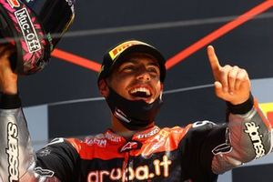 Podio: ganador de la carrera Michael Ruben Rinaldi, Aruba.It Racing - Ducati