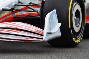 De Formule 1-auto van 2022 detail