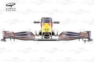 Red Bull Racing RB16B front wing of Sergio Perez