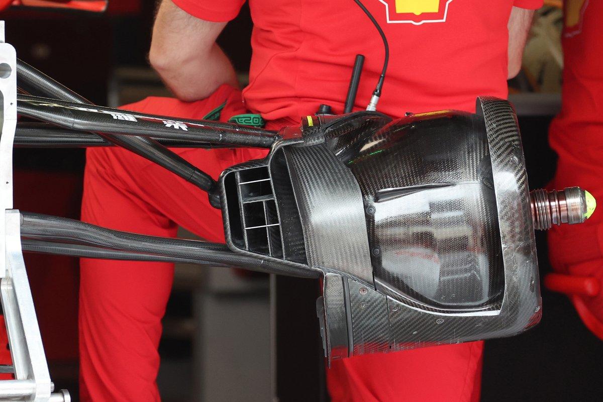Ferrari SF21 brake duct detail