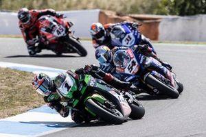 Jonathan Rea, Kawasaki Racing Team WorldSBK, Toprak Razgatlioglu, PATA Yamaha WorldSBK Team, Garrett Gerloff, GRT Yamaha WorldSBK Team, Scott Redding, Aruba.It Racing - Ducati