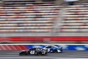 Alex Bowman, Hendrick Motorsports, Chevrolet Camaro Ally Patriotic and Kyle Larson, Hendrick Motorsports, Chevrolet Camaro MetroTech