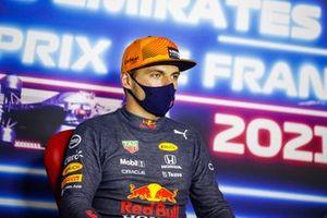 Max Verstappen, Red Bull Racing, vainqueur, en conférence de presse