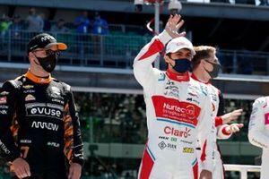 Felix Rosenqvist, Arrow McLaren SP Chevrolet, Pietro Fittipaldi, Dale Coyne Racing with RWR Honda