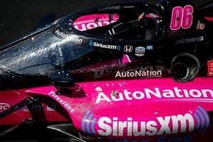 Helio Castroneves, Meyer Shank Racing Honda celebrates his victory