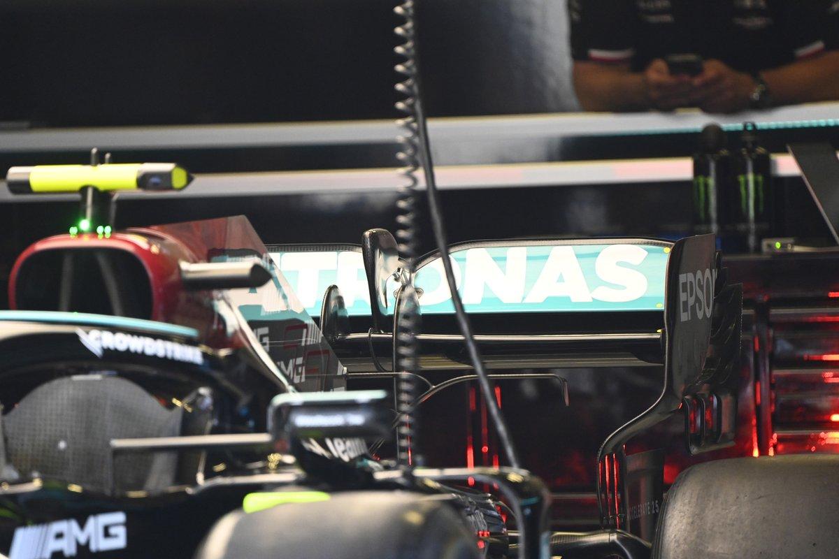 Detalle del Mercedes W12