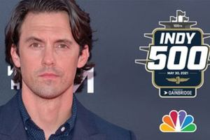 Actor, director and producer Milo Ventimiglia, honorary starter for the 105th Indianapolis 500