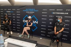 Catie Munnings, Andretti United Extreme E and Mattias Ekstrom, ABT CUPRA XE at press conference