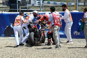 Crash of Tito Rabat, Pramac Racing