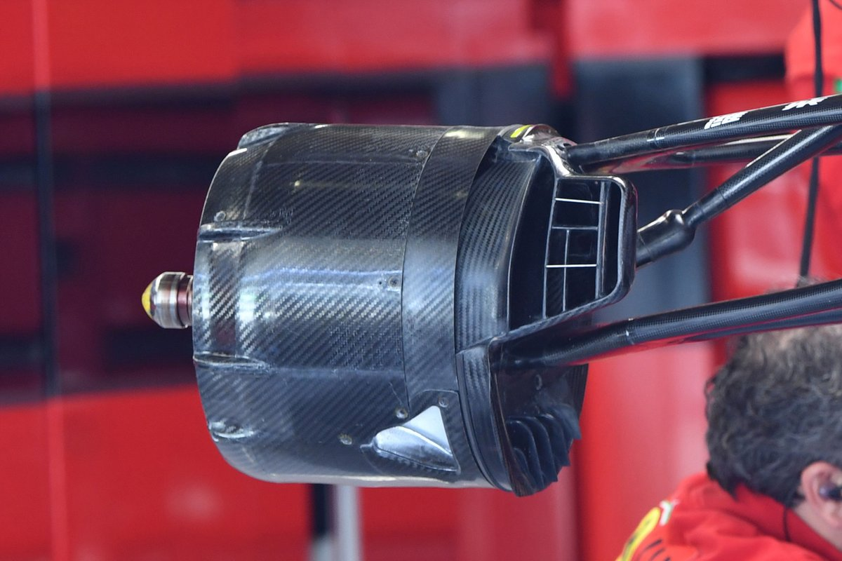 Ferrari SF21 front brake duct detail