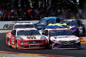 Denny Hamlin, Joe Gibbs Racing, Toyota Camry FedEx Freight and Ryan Blaney, Team Penske, Ford Mustang BodyArmor