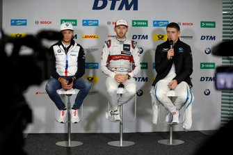 Conferenza stampa, Marco Wittmann, BMW Team RMG, René Rast, Audi Sport Team Rosberg, Paul Di Resta, R-Motorsport