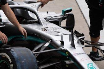 Prove pit stop della Mercedes con la Mercedes AMG F1 W10