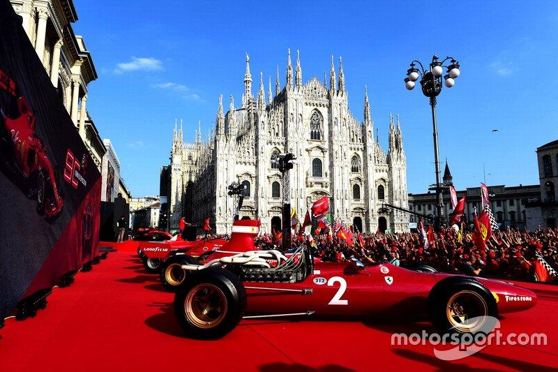 Monoplaza antiguo de Ferrari