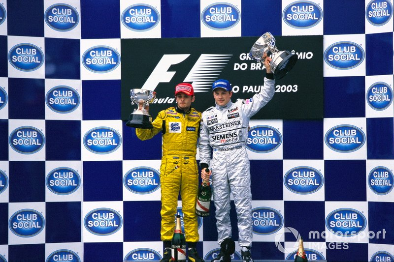 Podium : Kimi Raikkönen, McLarenn, Giancarlo Fisichella, Jordan