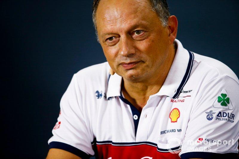 Frederic Vasseur, Team Principal, Alfa Romeo Racing, in conferenza stampa