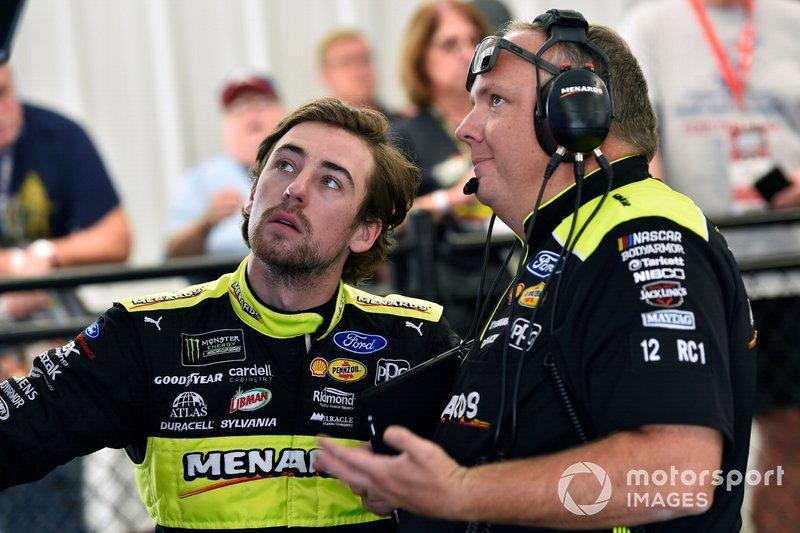 Ryan Blaney, Team Penske, Ford Mustang Menards/Richmond and Jeremy Bullins