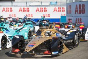 Андре Лоттерер, DS Techeetah Formula E Team, DS E-Tense FE 19, Том Дильман, NIO Formula E Team, NIO Sport 004, и Лукас ди Грасси, Audi Sport ABT Schaeffler, Audi e-tron FE05