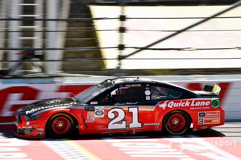 9. Paul Menard, Wood Brothers Racing, Ford Mustang