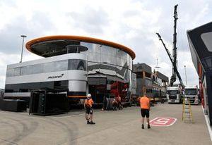 Mclaren and Toro Rosso set up their hospitality centre
