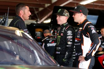 Riley Herbst, Joe Gibbs Racing, Toyota Supra Monster Energy Noah Gragson, JR Motorsports, Chevrolet Camaro Switch