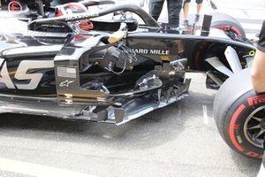 Kevin Magnussen, detalle del sidepod VF-19 de Haas F1 Team