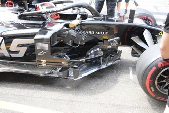 Kevin Magnussen, Haas F1 Team VF-19 sidepod detail