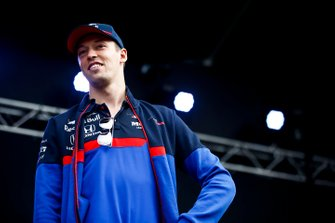 Daniil Kvyat, Toro Rosso on stage in the fan zone