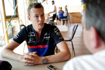 Daniil Kvyat, Toro Rosso speaks to the media