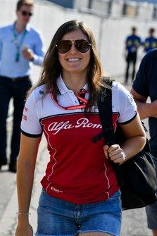 Пилот по развитию Alfa Romeo Racing Татьяна Кальдерон