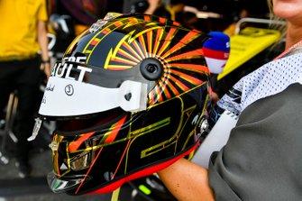 Speciale helm van Nico Hulkenberg, Renault F1 Team