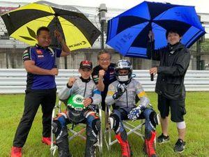 M Faerozi, Maiku Watanuki, Yamaha Indonesia & Ito Racing, Minoru Morimoto, President Director & CEO PT Yamaha Indonesia Motor Mfg