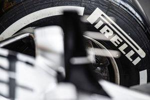 Pirelli tyre on car of Lewis Hamilton, Mercedes AMG F1 W10