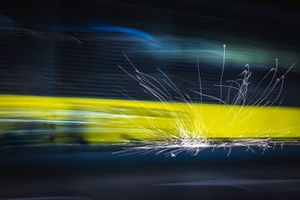 Sparks behind unindentified F1 car