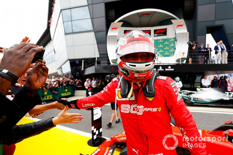 Charles Leclerc, Ferrari, nel parco chiuso