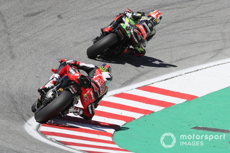 Jonathan Rea, Kawasaki Racing Team, Chaz Davies, Aruba.it Racing-Ducati Team