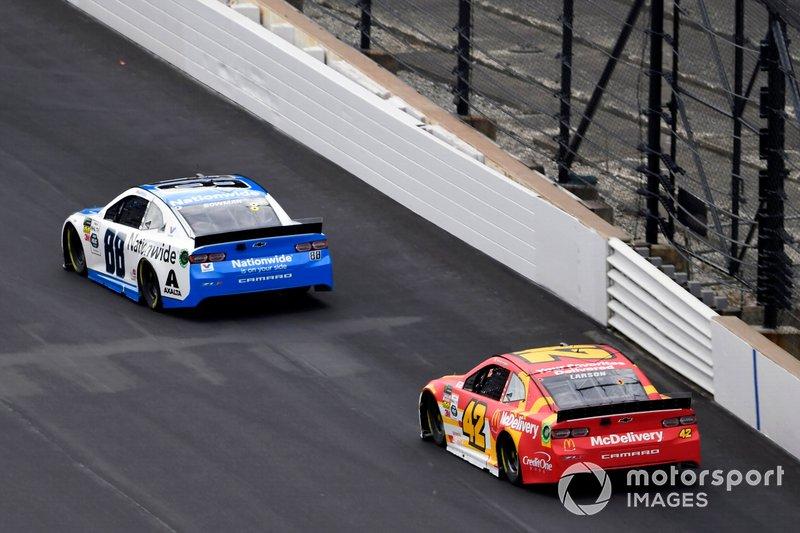 Alex Bowman, Hendrick Motorsports, Chevrolet Camaro Nationwide and Kyle Larson, Chip Ganassi Racing, Chevrolet Camaro McDonald's