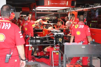 Ferrari SF90 in the garage