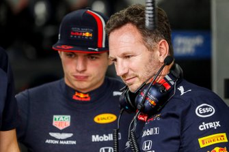 Max Verstappen, Red Bull Racing, with Christian Horner, Team Principal, Red Bull Racing
