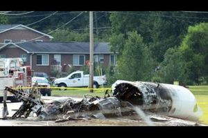 Dale Earnhardt Jr. plane crash wreckage