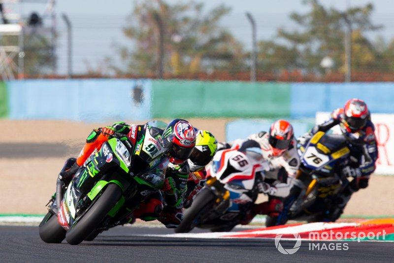 Leon Haslam, Kawasaki Racing Team, Alvaro Bautista, Aruba.it Racing-Ducati Team, Tom Sykes, BMW Motorrad WorldSBK Team