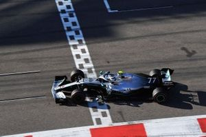 Valtteri Bottas, Mercedes AMG F1, 2nd position, crosses the line